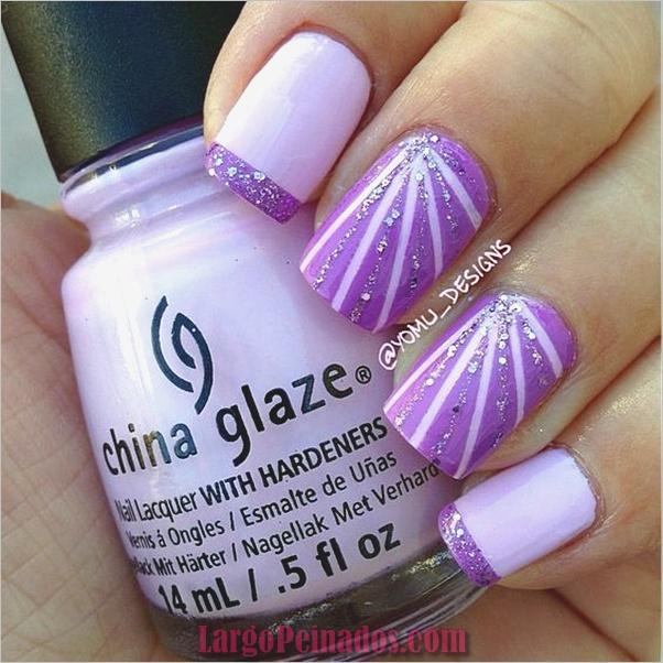 Diseños de arte de uñas púrpura (22)