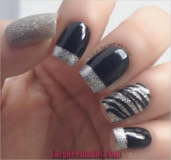 Diseños de arte de uñas negro13