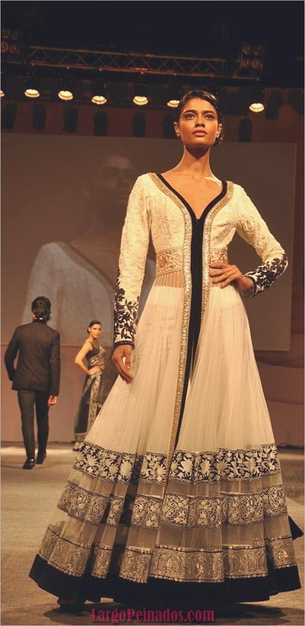 Vestidos y trajes indios elegantes35