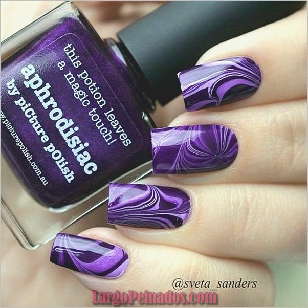 Diseños de arte de uñas púrpura (11)
