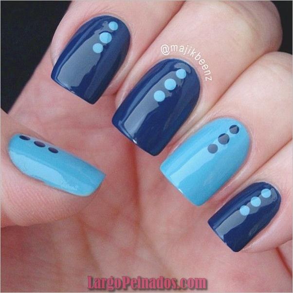 Ideas y diseños de arte de uñas azules (47)