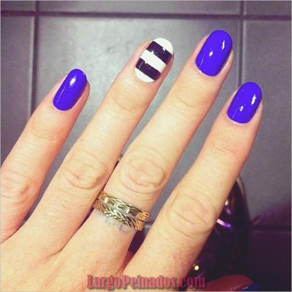 Diseños de arte simples para uñas cortas (17)