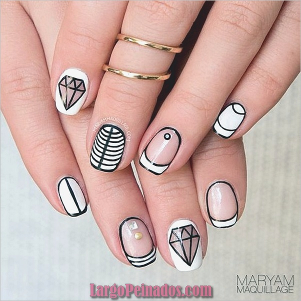 Diseños bonitos de uñas francesas (23)