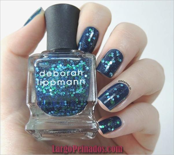 Ideas y diseños de arte de uñas azules (38)