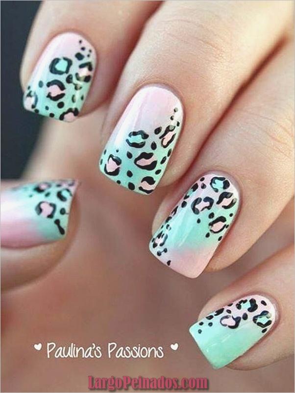 Estampados De Leopardo Del Arte De Uñas (9)