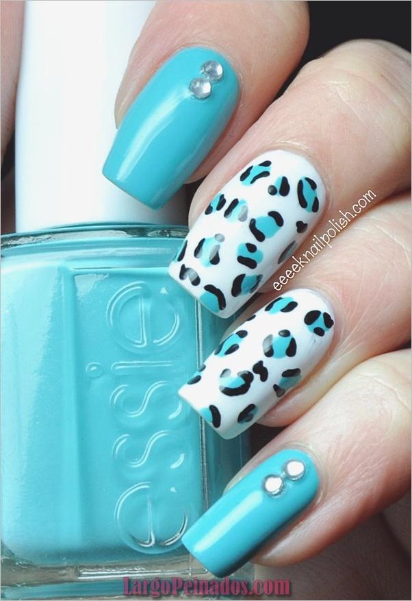 Ideas y diseños de arte de uñas azules (15)