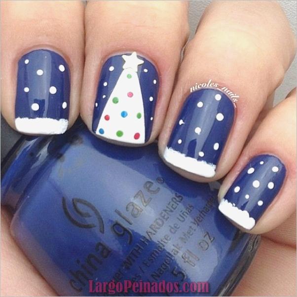 Ideas y diseños de arte de uñas azules (46)