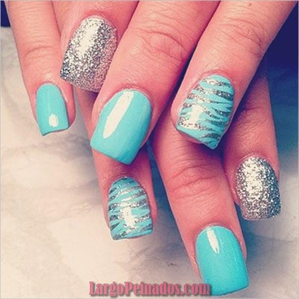 Ideas y diseños de arte de uñas azules (10)