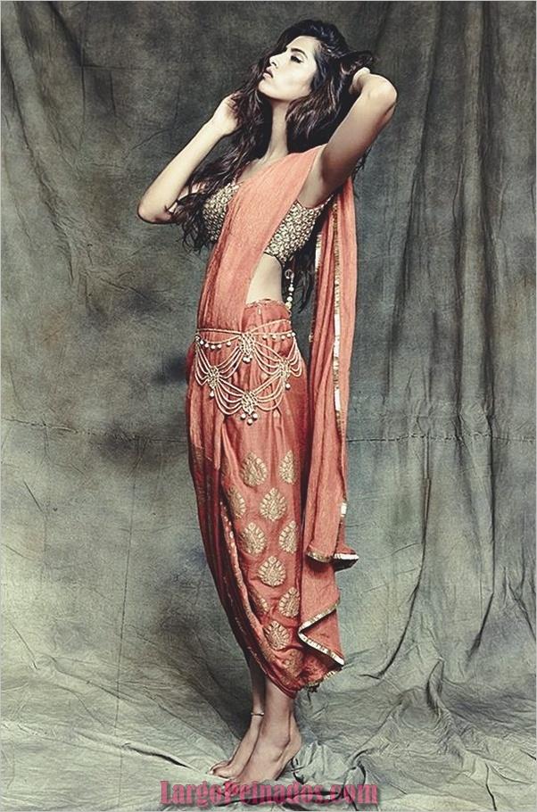 Vestidos y trajes indios elegantes22