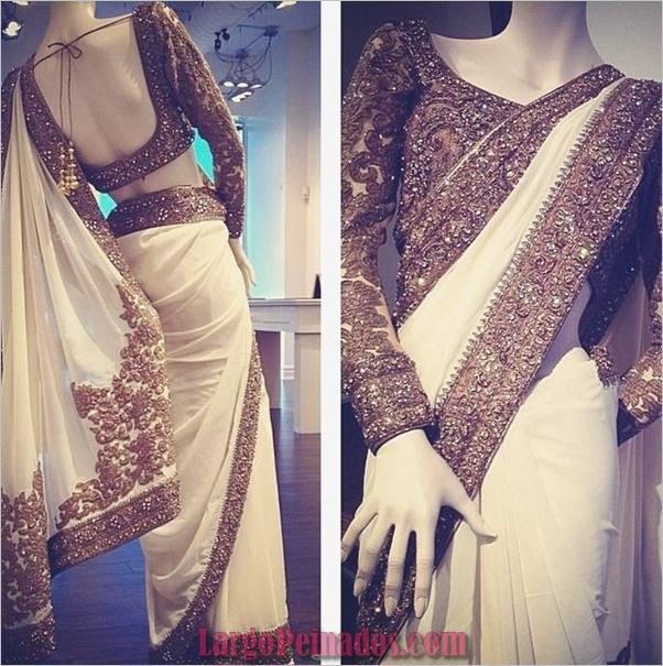 Vestidos y trajes indios elegantes11