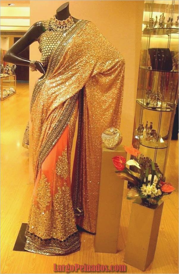 Vestidos y trajes indios elegantes14