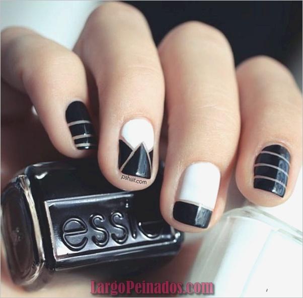 Diseños de arte de uñas negro2
