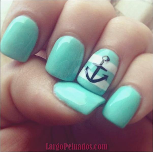 Ideas y diseños de arte de uñas azules (51)