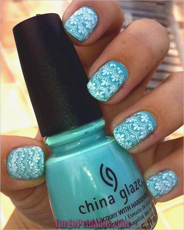 Ideas y diseños de arte de uñas azules (22)