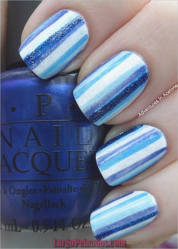 Ideas y diseños de arte de uñas azules (43)