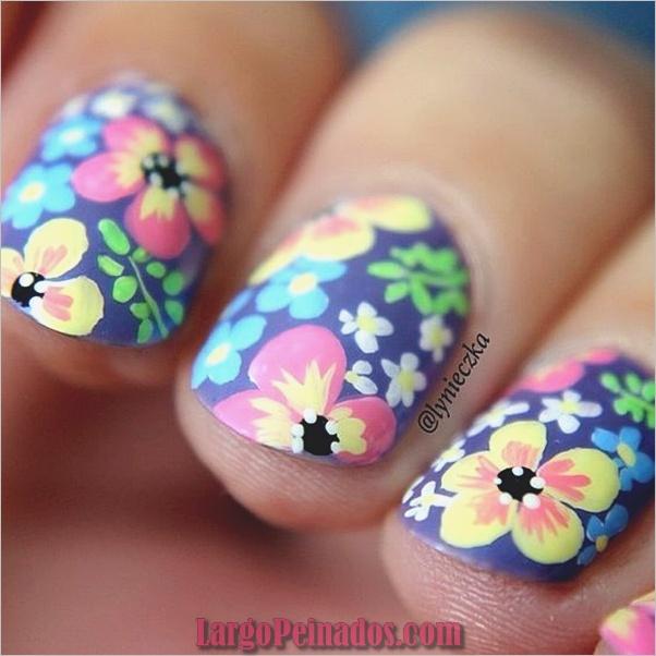Diseños de arte de uñas púrpura (3)