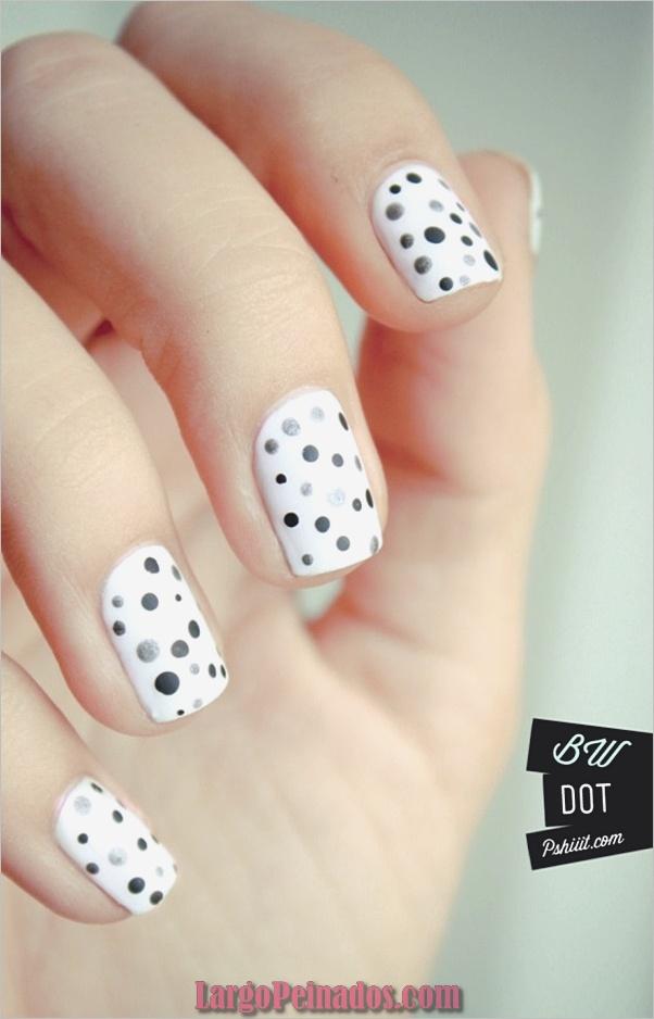 Diseños de arte de uñas blancas (1)
