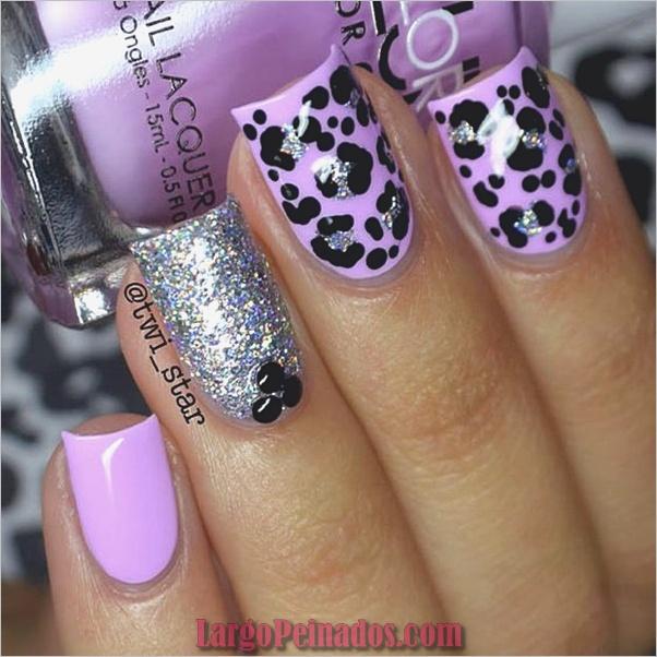 Diseños de arte de uñas púrpura (4)