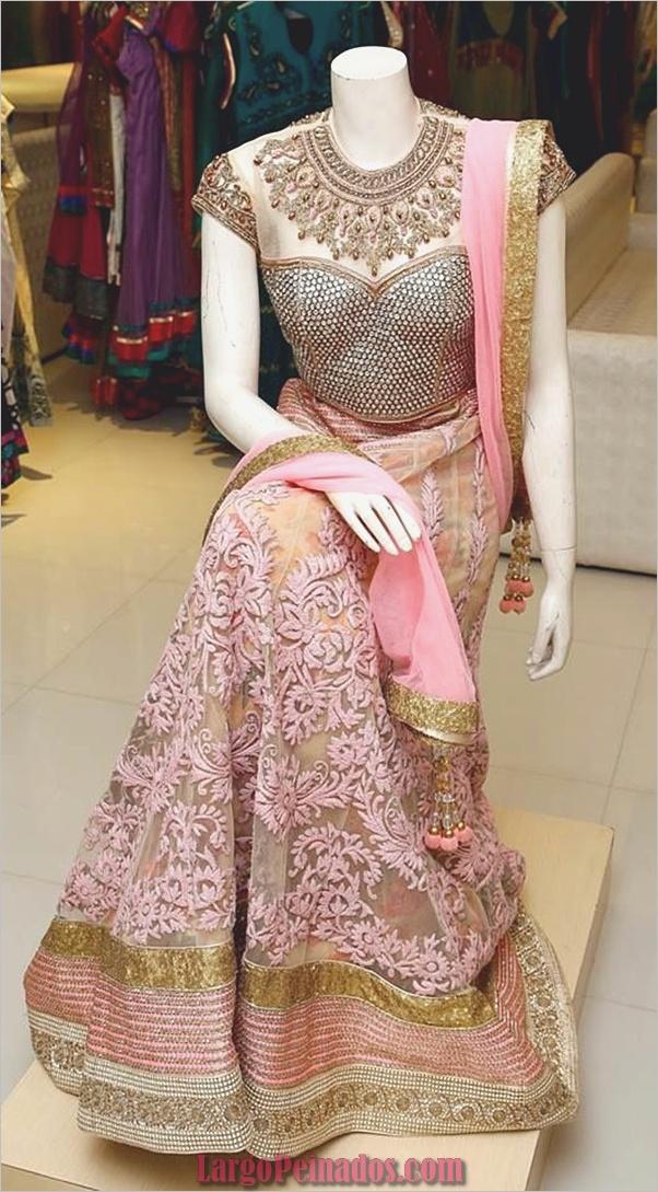 Vestidos y trajes indios elegantes25