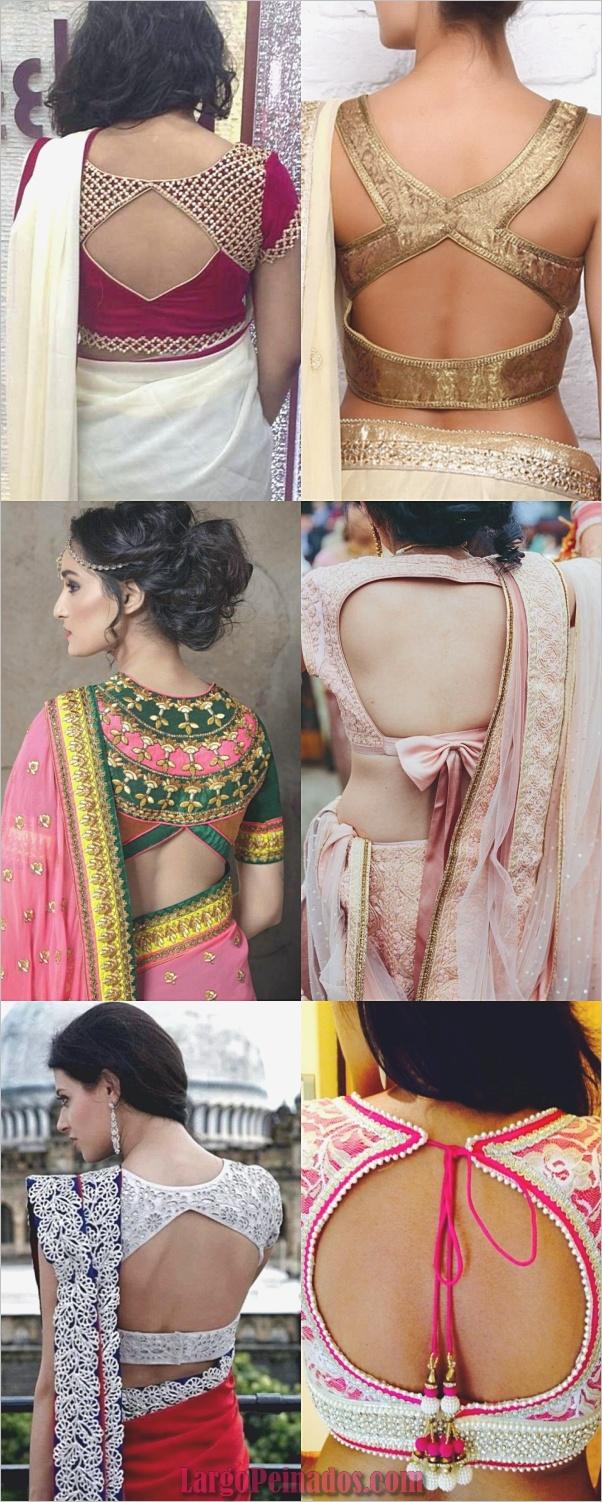Blusa de diseño con cuello en la espalda diseño de catálogo