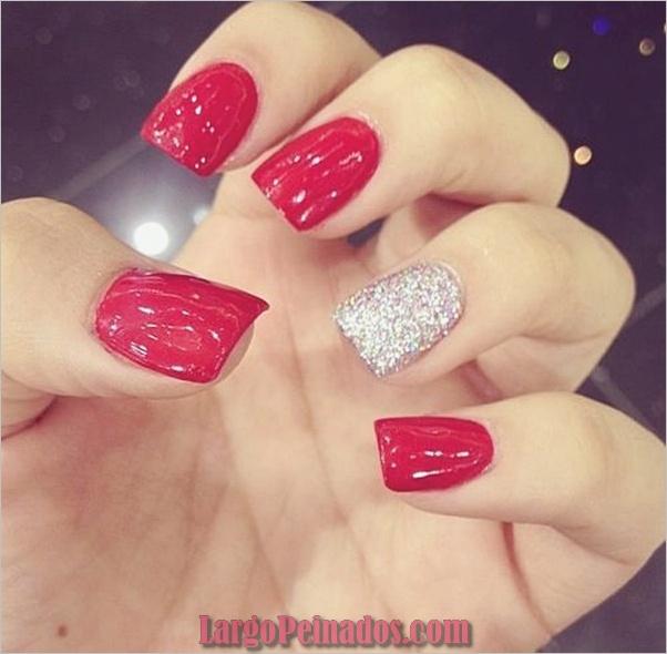 Diseños de arte de uñas rojas1