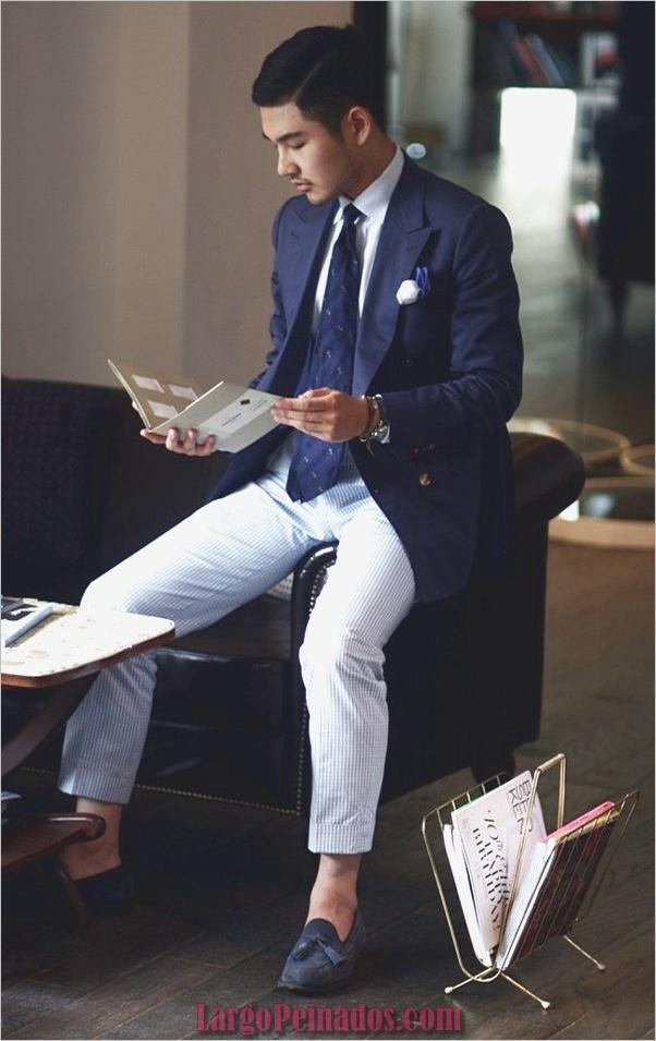 Trajes de estilo de moda para hombre42