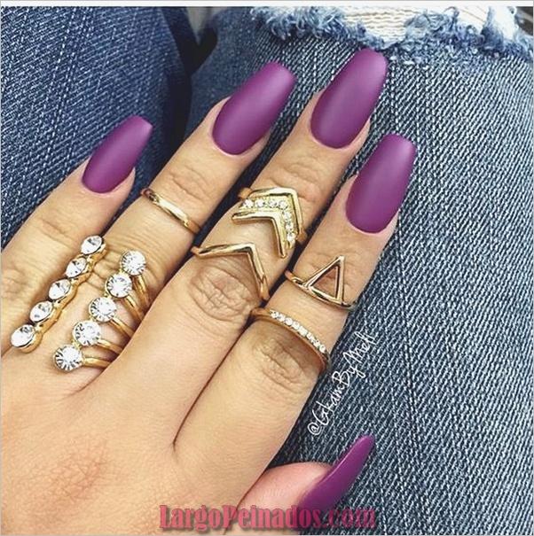 Diseños de arte de uñas púrpura (23)