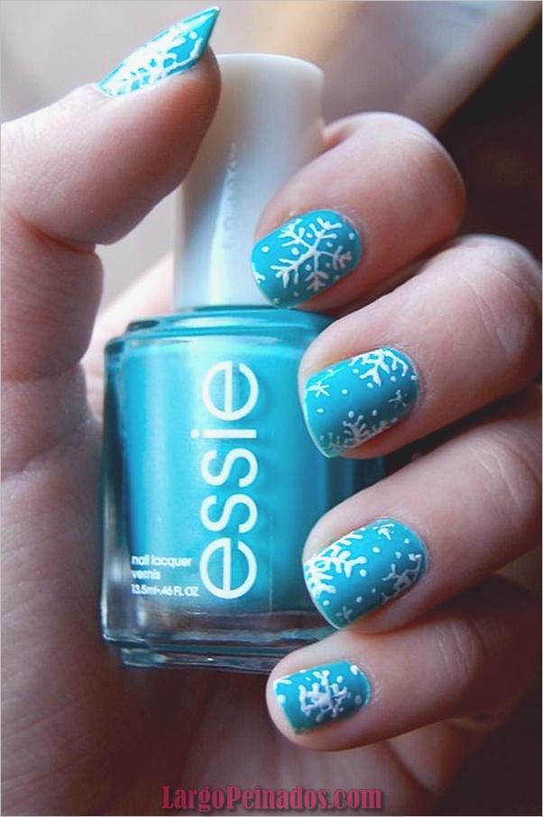 Ideas y diseños de arte de uñas azules (35)