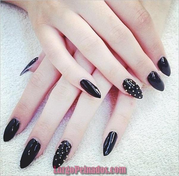 Diseños de uñas puntiagudas de almendra (8)