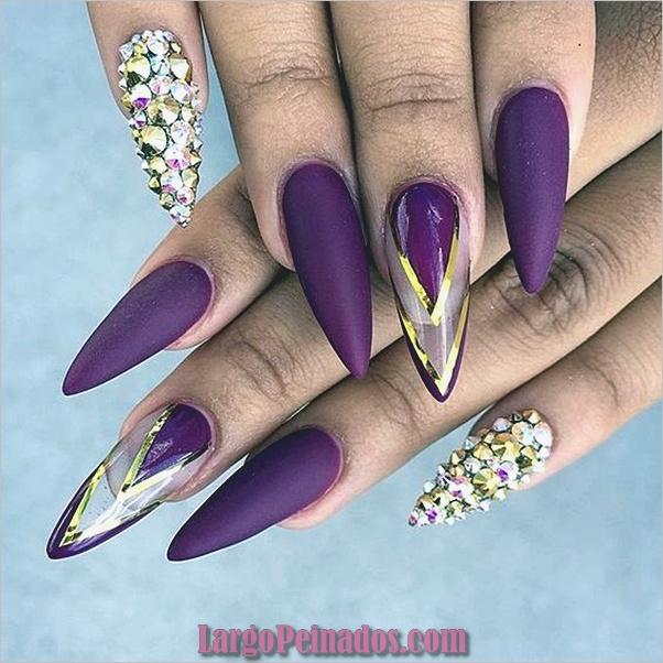 Diseños de arte de uñas púrpura (25)