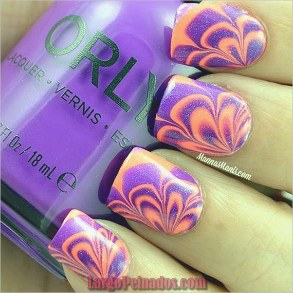 Diseños de arte de uñas de mármol (3)