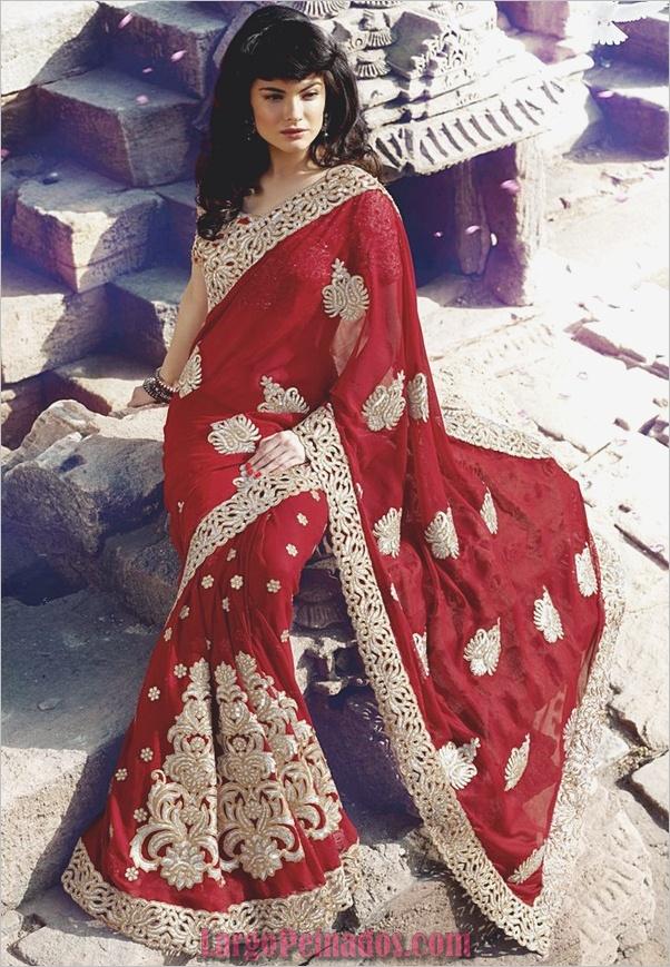 Vestidos y trajes indios elegantes13