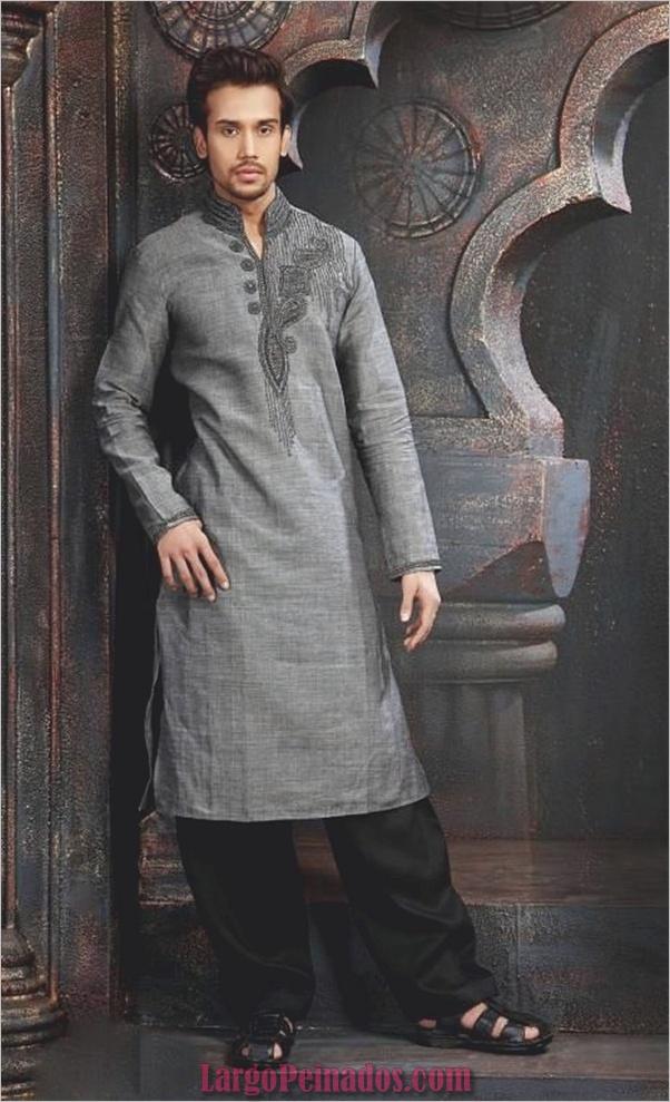 Vestidos y trajes indios elegantes10
