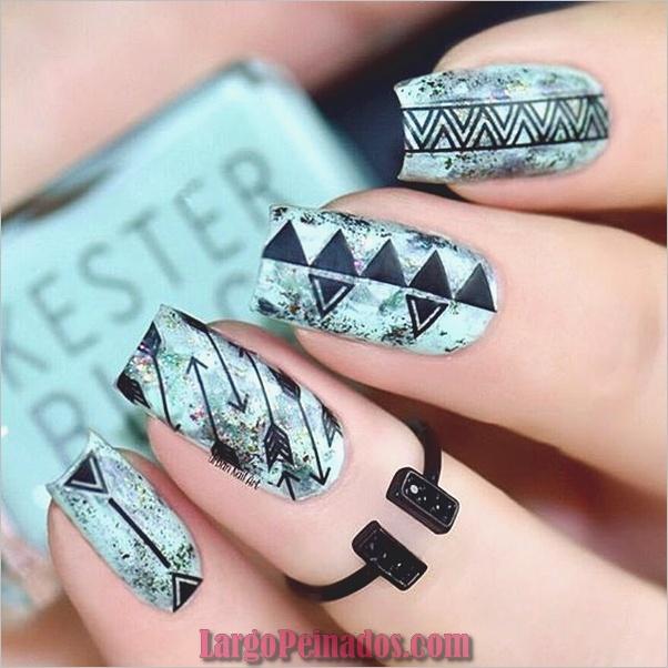 Ideas y diseños fáciles de esmalte de uñas (12)