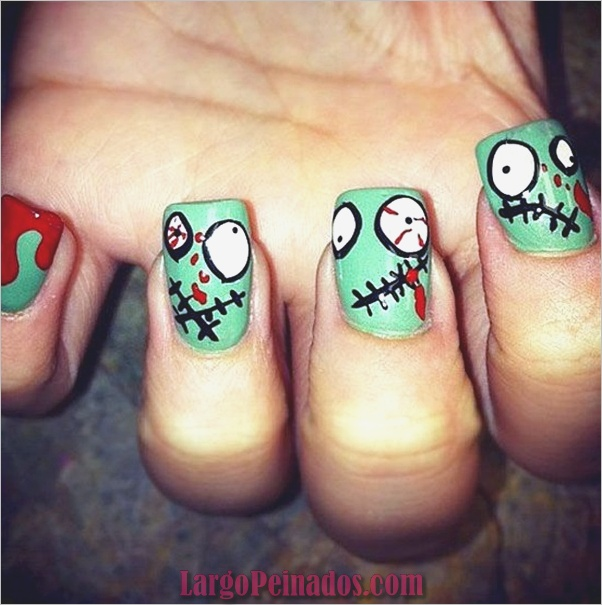 Ideas y diseños de arte de uñas de Halloween (22)