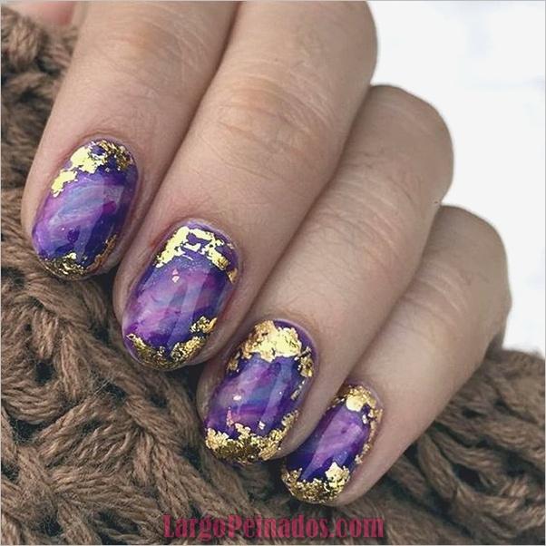 Diseños de arte de uñas púrpura (30)