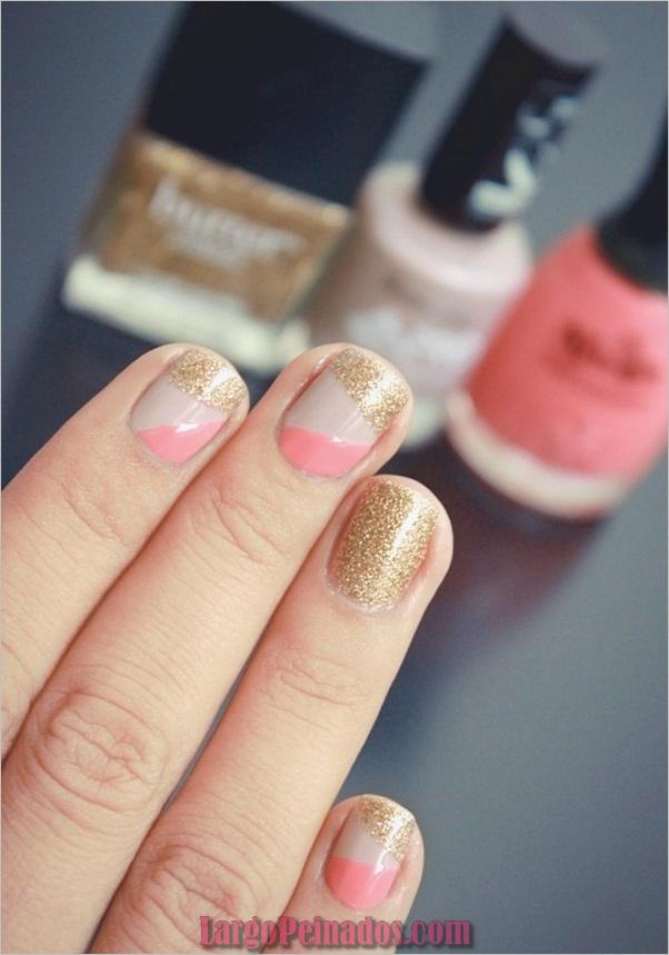 Diseños de arte de uñas con purpurina simple5