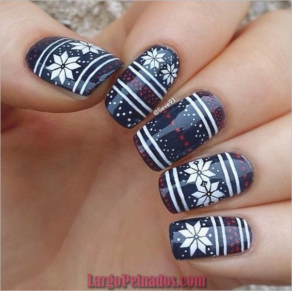 Diseños de uñas de invierno 2019 (7)