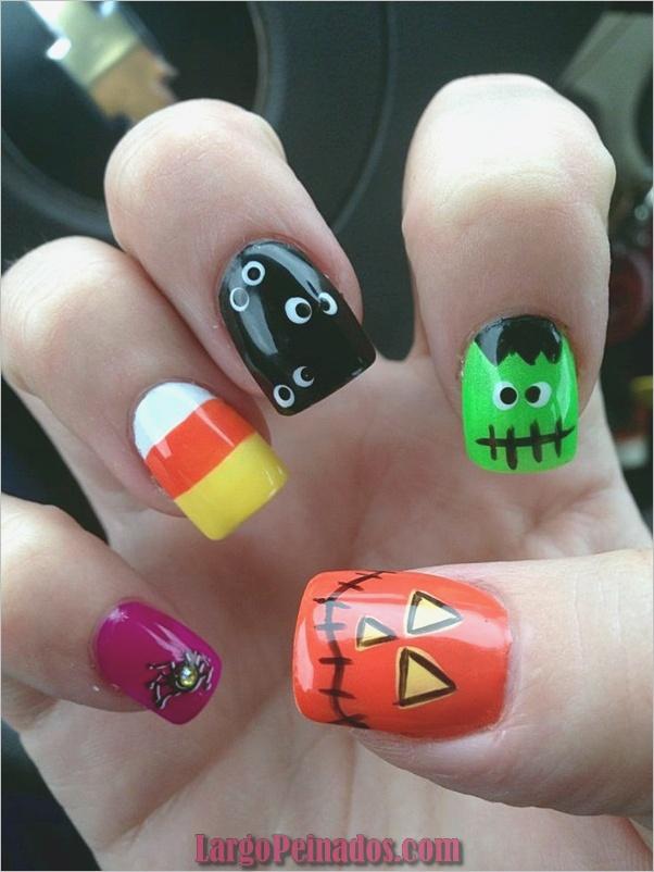 Ideas y diseños de arte de uñas de Halloween (19)