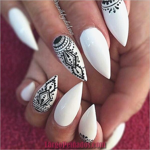 Diseños de uñas puntiagudas de almendra (17)