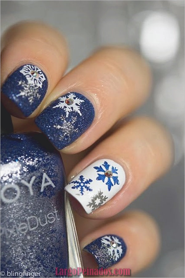 Ideas y diseños de arte de uñas de Navidad16