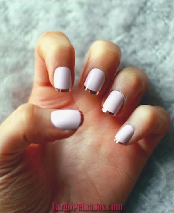 Diseños bonitos de uñas francesas (2)