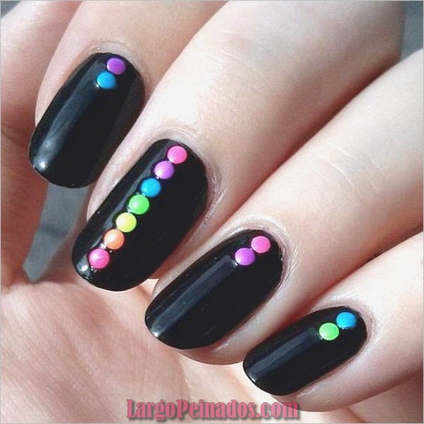 Ideas y diseños fáciles de esmalte de uñas (8)
