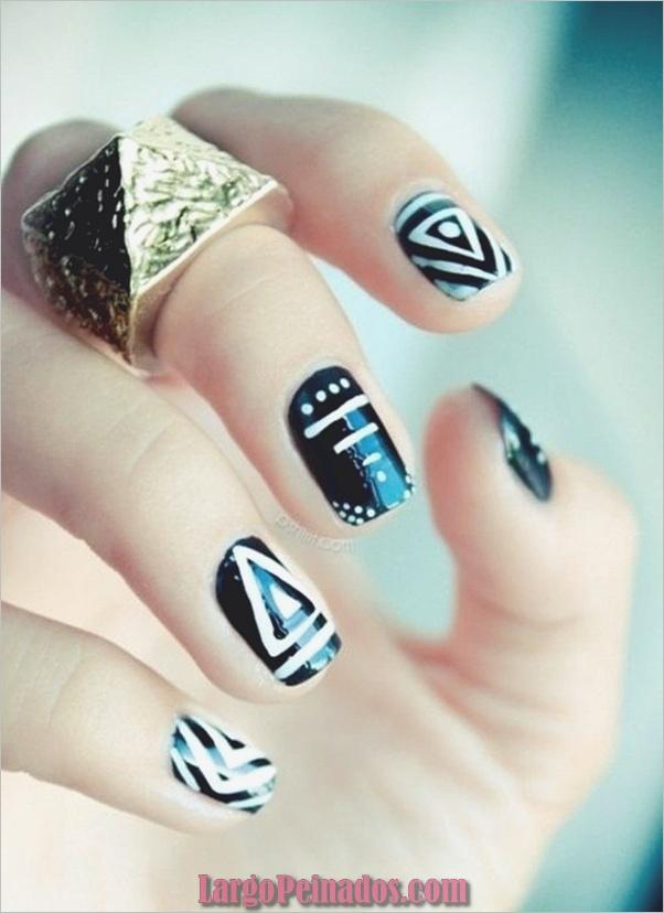 16 diseños simples de arte de uñas para uñas cortas: 2019 ...