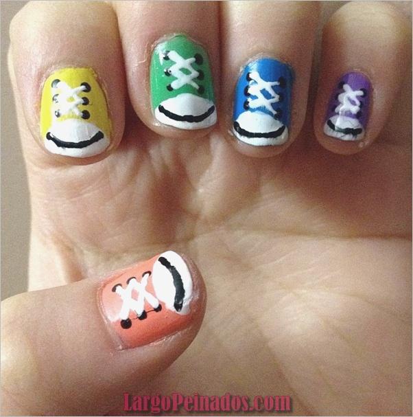 Diseños de arte simples para uñas cortas (1)