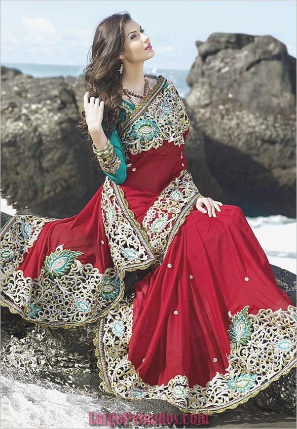Vestidos y trajes indios elegantes12