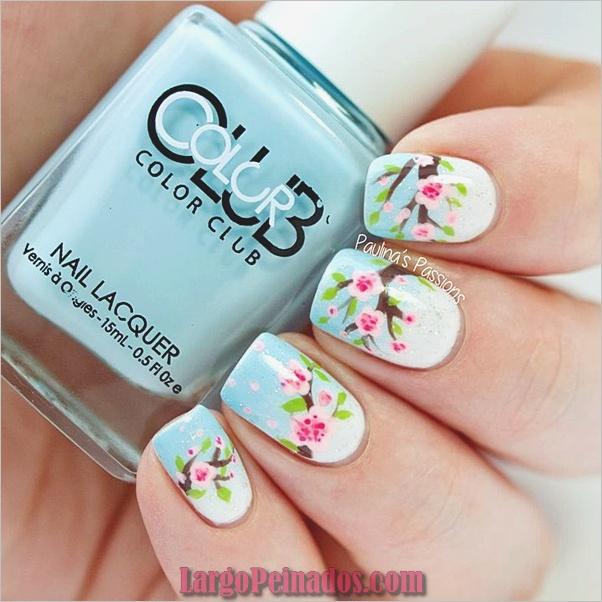 Uñas de primavera diseños e ideas de colores (3)