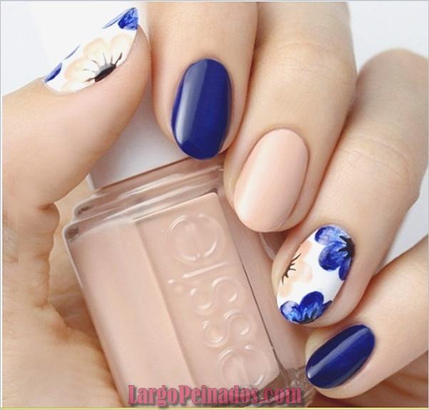 Ideas y diseños de arte de uñas azules (4)