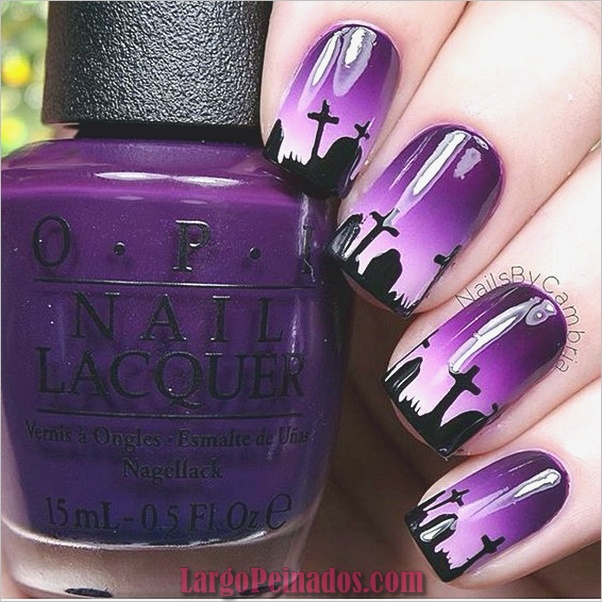 Diseños de arte de uñas púrpura (15)