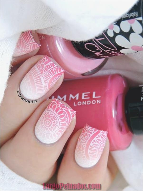 Diseños de arte de uñas blancas (4)